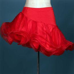 2016 Latin Dance Skirt Yellow Rose Red Black Latin   Cha Cha   Rumba   Samba   Tango   Paso Doble   Bull Dancing Skirts Dancewear Skirt
