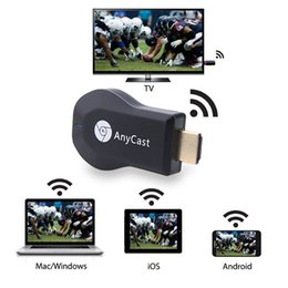 Descuento androide dlna palo de televisión Nuevo Anycast M2 Plus DLNA Airplay WiFi Miracle Dongle HDMI Multidisplay 1080P Receptor AirMirror Mini Android TV Stick 10pcs / lot