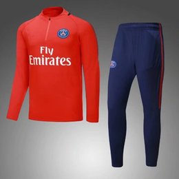 Top quality NEYMAR JR DI MARIA CAVANI andParis training suit soccer Jerseys kit 17 18 paris jacket track suit set Postage free
