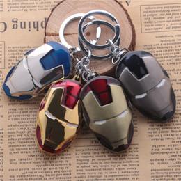 Movie Series The Avengers Key Chain Iron Man Mask Keyring Keychain for Keys Chaveiro Llavero Key Ring Key toys Holder