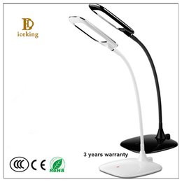 Wholesale Indoor Ultrathin w Led Eye protection Dimming Table Lamp ABS Material High Brightness Led Touch Type Rechargeable Studying Desk Light