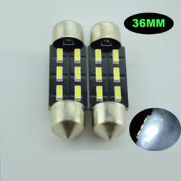 150X Recap Auto decoration accessories 6SMD 4014 36mm Interior Festoon Dome bulbs Reading LED Lamp Cargo Area License Plate Light
