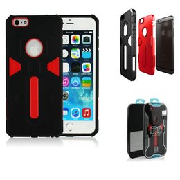 Wholesale New Shockproof in Cell Phone Protective Cover Dual Layer Hybrid Armor Rubber Hard Back Case For iPhone Plus quot