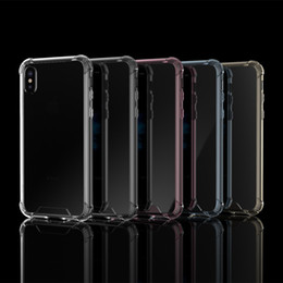 Slim Crystal Clear Transparent Acrylic back + TPU Soft frame Case For iphone X Shockproof Anti Slip Protector Cover