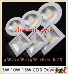 Super bright Round COB Led downlight 5W 10W 15W 220V 110V Recessed LED Ceiling light down light Lamp White  warm white