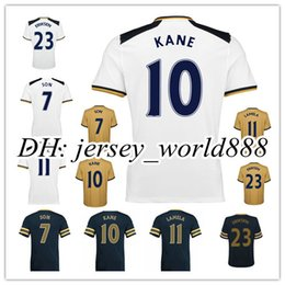 Wholesale Top Thai quality Home Away RD Soccer Jersey SON KANE LAMELA ERIKSEN Football shirt