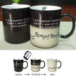 Wholesale Color Changing Ceramic Mugs best gifts harry potter ceramic heat sensitive magic full color changing mug tea cups LJJG382