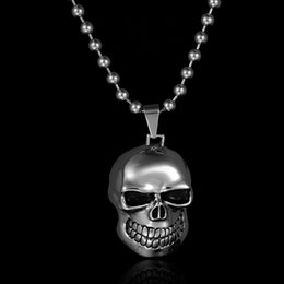 Wholesale Factory Direct New Punk Style Jewelry Stainless Steel Ghost Rider Pendant Necklace Motorcycle Necklace price