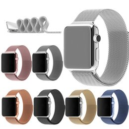 Wholesale Noble Smart Watch Milanese Magnetic Stainless Steel Straps For Apple iWatch Band Strap mm mm Colors