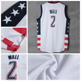 Wholesale 2016 Newest John Wall Jersey Rev New Material John Wall Shirt Uniform Fashion Breathable Pure Cotton Team Color White Best Quality