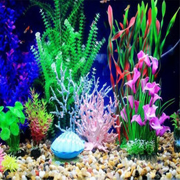 Wholesale New Hot Sale Fish Tank Faux Artificial Aquarium Reef Coral Decor Ornaments Plastic Simulation Accessories