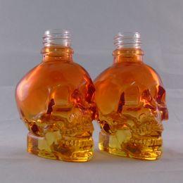 Ejuice vape skull bottle orange glass pipette dropper e liquid unicorn bottle wholesale empty perfume bottle fragrance oil childproof cap
