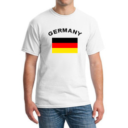 Germany Fans Cheer Flag T-Shirts 2016 European Football Sports Fitness Gym Football Summer Germany Flag T shirts For Men