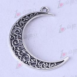 Moon hollow Pendant antique Silver bronze pendant fit Necklace DIY Jewelry Zinc alloy 75pcs lot 147z