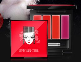 Wholesale Theme of the four color moisturizer gradient easy to wear lipstick lip Arts disc tray