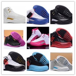 Wholesale 2016 Hot Cheap Retro Men Basketball Shoes OVO White TAXI Flu Game gamma blue French Blue Wolf Grey Gym Red s Women Sneakers