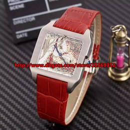 New classic retro fashion luxury business distinguished precision imported quartz movement waterproof square relief belt Ladies Watch