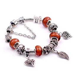 Acheter en ligne Les brunes-Bracelets de marque en gros bijoux de mode Bracelets de charme en argent Bracelets pour les femmes Cadeaux Bracelets européens Bracelet Brown