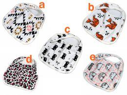Wholesale miracle Baby styles new Bibs INS Cotton soft bibs Cartoon Animal fox batman Muslin Anais baby Burp cloths layers Feeding bibs