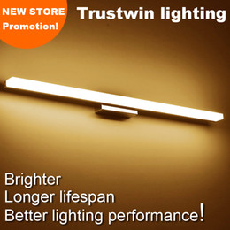 Wholesale New store promotion modern style wall mounted CM CM CM M Acrylic LED bathroom mirror wall light lamp