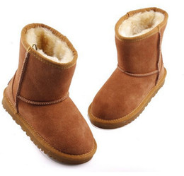 2016 Hot New Real Australia Top-quality Kid Boys girls children baby 5281 warm snow boots Teenage Students Snow Winter boots Free shipping
