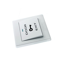 Wholesale cheapest white color access control system accessories Door Release Exit Button wired Switch for home security