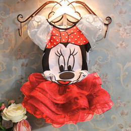 2017 faldas para las muchachas de los niños Envío libre 2015 nuevos bebés fija camisas de las muchachas de la ropa del ratón de Minnie T + falda de los niños 2pcs al por menor Traje faldas para las muchachas de los niños oferta