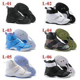 Wholesale Drop Shipping Famous LBJ Zoom Soldier Mens Sports Athletic Basketball Shoes Sneaker Trainers Shoe Size