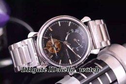 Compra Online Esfera blanca para hombre de los relojes automáticos-Super Clone reloj de lujo Tourbillon Impermeable Gents reloj automático multifunción de acero inoxidable Dial Blanco reloj de pulsera plegable AAA +