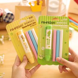 Acheter en ligne Enfants mignons effaceurs-Pics Poussez Kawaii Mignon 1 gros au crayon Gommes Set Avec Refill For School coréenne Enfants Fournitures Cadeaux Papeterie Enfants enfants