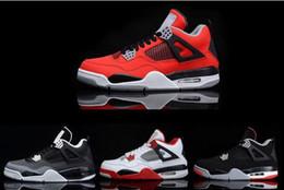 Promotion chaussures de sport pas cher 2016 rétro 4 chaussures de basket-ball des hommes Nouveau Design Chaussures de sport de haute qualité à bas prix oreo feu blanc rouge ciment chaussures de sport Livraison gratuite