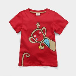 Wholesale Boys T-Shirts Kids Clothes Monkey Character Fashion Children T Shirt Outfits 100% Cotton Kids Tops Summer Short Sleeve