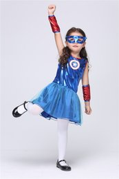 2017 New Halloween Hot Products Children's Superhero US Captain Style Set, Children's Day Performance Costume