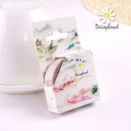 Wholesale daisyland tape and antique decoration diary account album land of idyllic beauty hand shredded paper