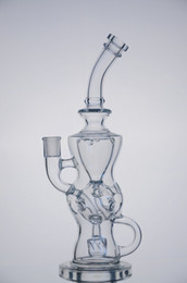 Wholesale FTK perfect vortex fab egg Glass Recycler Glass concentrated oil rigs Glass oil dabbers Glass bongs with tyre perc mm female joint