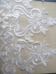 Embroidery Ivory Lace Trim for wedding dress Appliques Cord Lace Sold by Yard 20cm Width Dress Accessories