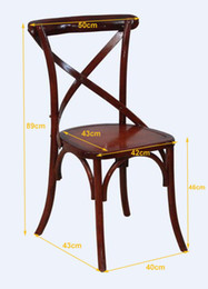 oak wood cross back chair for restaurant, X back chair, cross back chair with rattan seat
