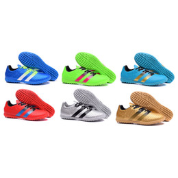 Wholesale 2016 Men ACE TF Soccer Shoes Football Shoes Indoor Best Quality Athletic Soccer Football Shoes Cheaper Popular Soccer Football Sneakers
