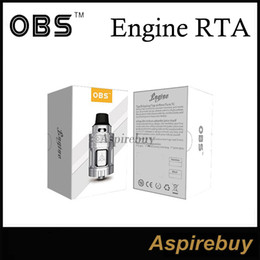 Wholesale OBS Engine Tank ML RTA mm Rebuildable Atomizer Supports Airflow Circulation Systems Top Filling Design with DIY Desk OBS Engine Tank