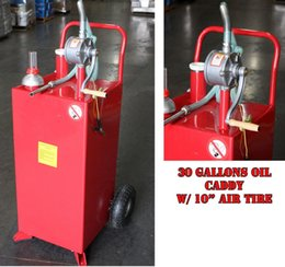Wholesale w ROTARY Rotary PUMP BIDIRECTIONAL quot x quot x quot Gallon GAS OIL DIESEL FLUID CADDY TRANSFER TANK