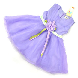 Wholesale 2016 Las nuevas muchachas del vestido del chaleco de la princesa de los niños de la gasa de las flores de la correa del tutú