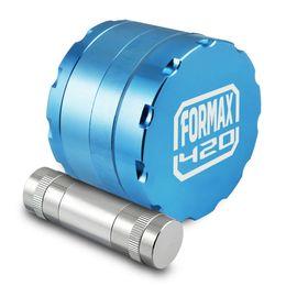 Wholesale FORMAX420 Inch Premium Quality Aluminium CNC Tobacco Grinder Parts with Pollen Press