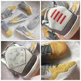 Wholesale Kobe XI Elite Low BHM Knits Mens Basketball Shoes Air Zoom Lunarlon KB s Master Of Innovation Grey Sneakers Men Sport Trainers
