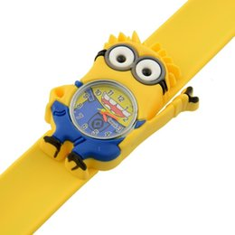 Wholesale Children Watch Cute D Eye Despicable Me minion Quartz Digital Watch for Girl Baby Kid Hot sales best from yoyowatch2016