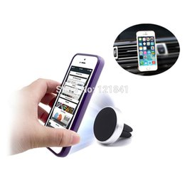 Wholesale High Quality Aluminum Degree Car Holder Magnetic Air Vent Mount Dock mobile phone holder For iPhone s Samsung HTC celular