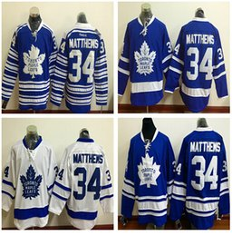 Wholesale 2017 New Draft Toronto Maple Leafs Jersey Blue White Auston Matthews Ice Hockey Jerseys Team Color Alternate All Stitched Best Quality Mi