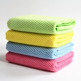 Wholesale soft thick microfiber nano towel car kitchen floor cleaning cloth dish washing cloth Scouring Pad