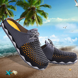 Wholesale 2017 Summer nest breathable garden shoes fashion mules and clogs weight loss swing shoes couple beach sandals lovers shoes for men and women