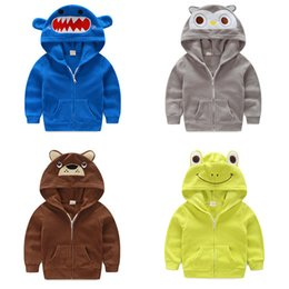 Wholesale 2017 New Arrival Little Kids Cartoon Hoodies Sweater hoodies sportswear boys girls Outfit Hooded coat clothes hoody jacket styles mc0314