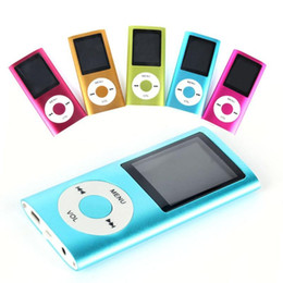 "4TH MP3 MP4 Player Slim 1.8""LCD Video Radio FM Player Support 4GB 8GB 16GB 32GB Micro SD TF Card Mp4 4th Genera"